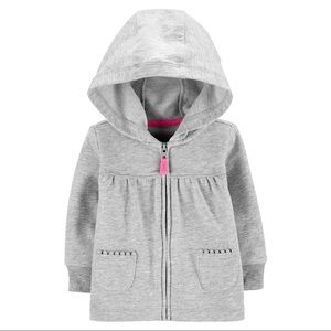 Carter's Zip-Up French Terry Hoodie Size: 24M